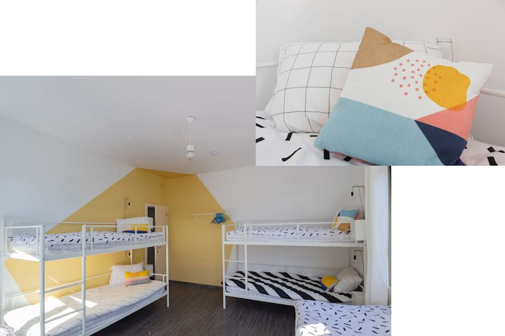 BED in FUNKY COMFY 6-bed FEMALE DORM – bed 2