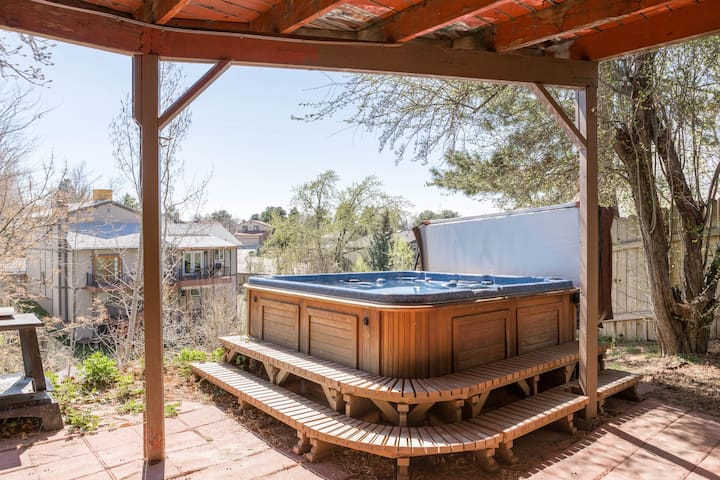private hot tub just outside your door