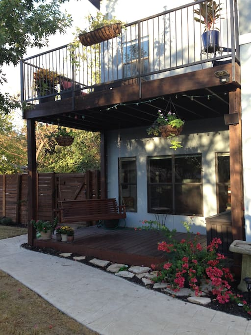 Two outdoor decks