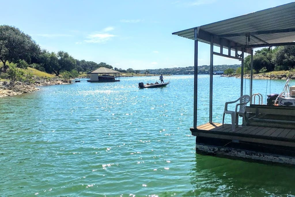 Fishing and Fun! We have Life Jackets and Floats for you to relax on our Private Dock.