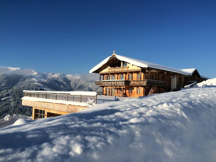 Ski chalet hideaway at 1300m huizen te huur in oberau for Chalet te koop oostenrijk tirol