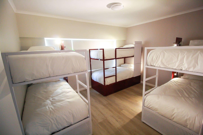 2 bedroom 8 sleeper  mixed dorm