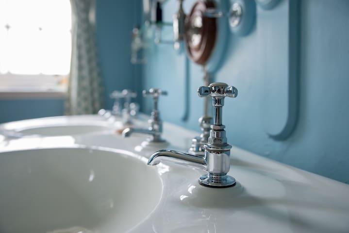 original fittings in adjacent washroom