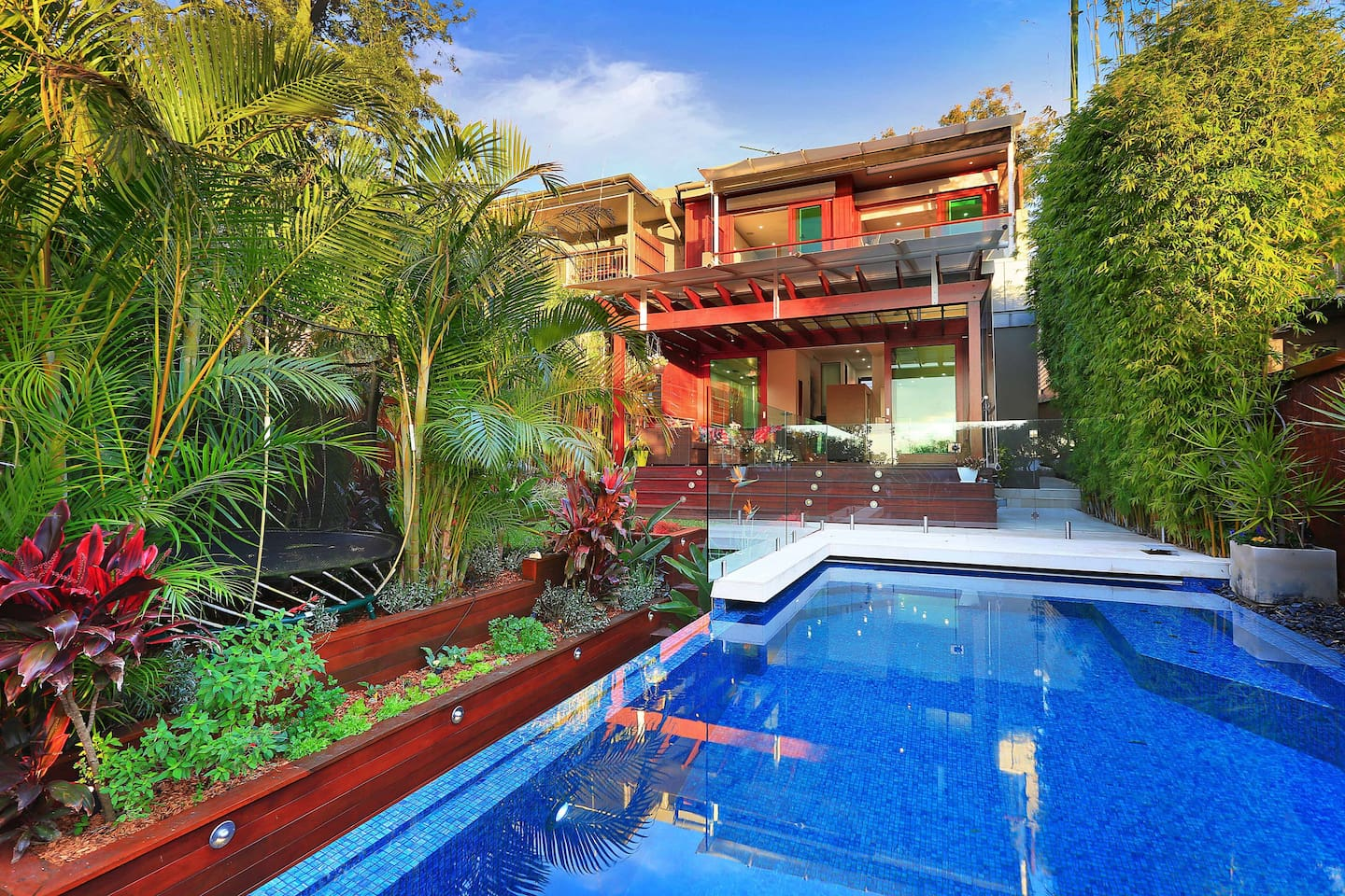 Back of house, Deck, Garden & Pool/Spa