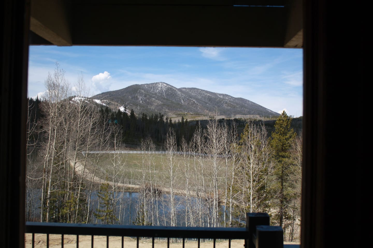 Looking out Valley View Window. A room with a view!