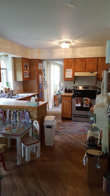 Kitchen and breakfast nook (kids table)