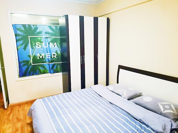 沈阳站太原街好房,当天订房私聊优惠,大床舒适被单