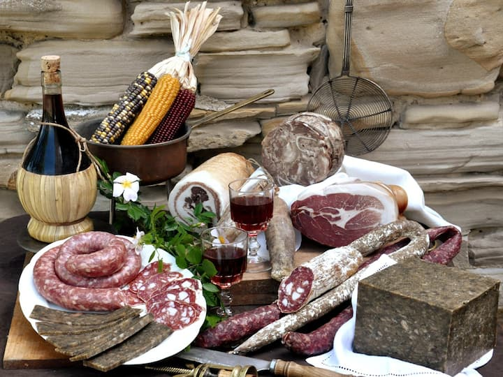 Local cured meats and top quality wine