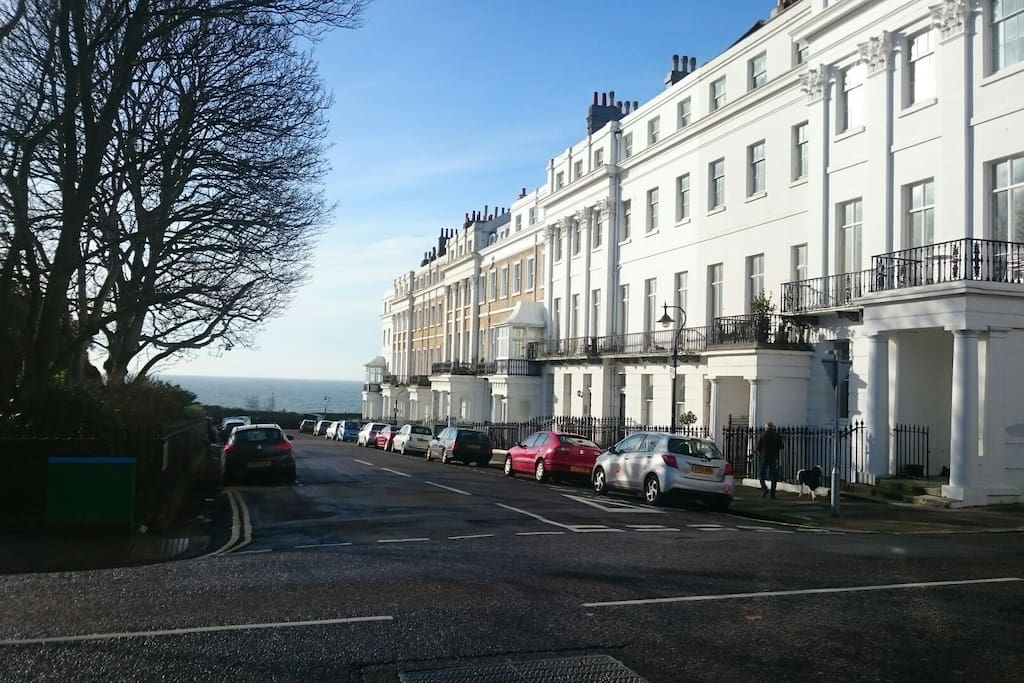 View from Sussex Square to the sea