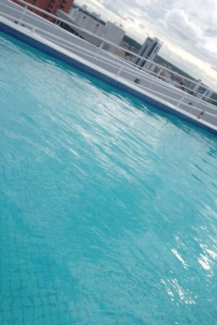 Miramar -JP AP: 602 cm piscina liberada, 2 pessoas