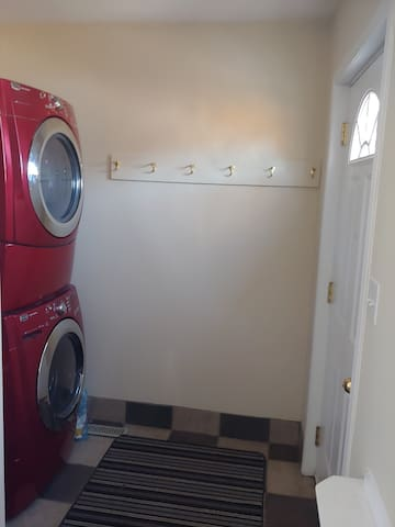 Shared back entrance and laundry