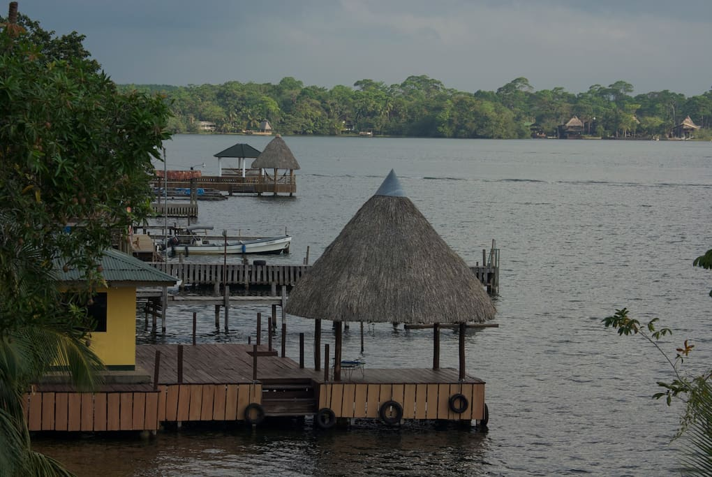 View of our Rio Dulce neighborhood from the Morgan Manor