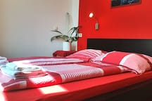 Comfy bed in my red room