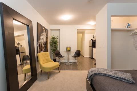 Private Downtown Suite by 17th ave +Parking