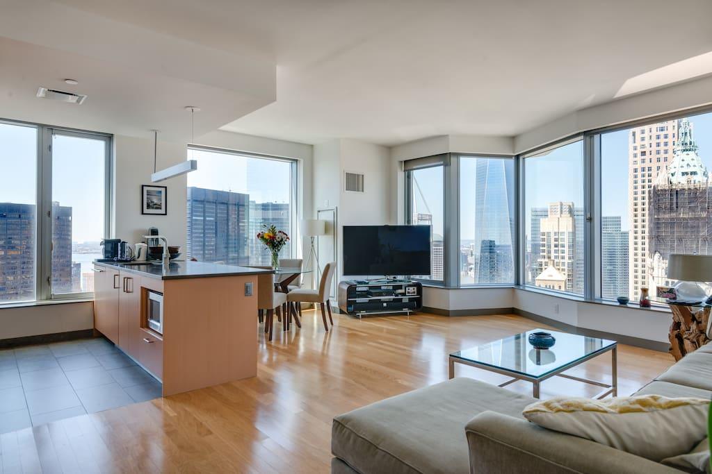 Luxury skyline view 2 bed pool gym appartementen te huur in new york new york verenigde staten - Samengestelde pool weergaven ...