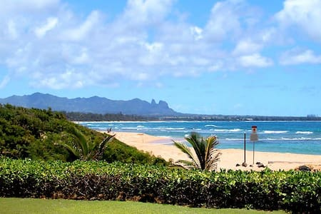 Beachfront-2BR Deluxe Oceanview-Kauai Beach Villas - 利胡埃(Lihue) - 公寓