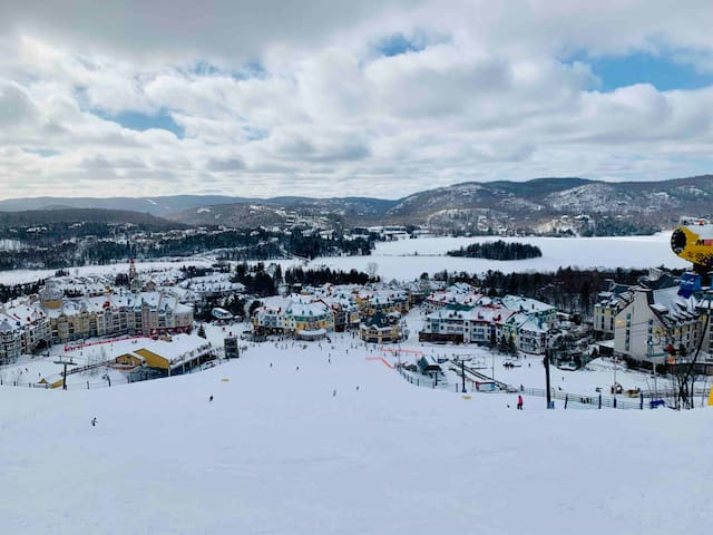 Tremblant resort  view from the ski  hills !