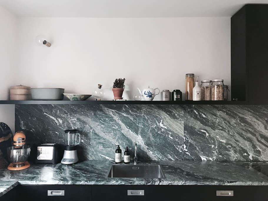 Kitchen top with Italian granite