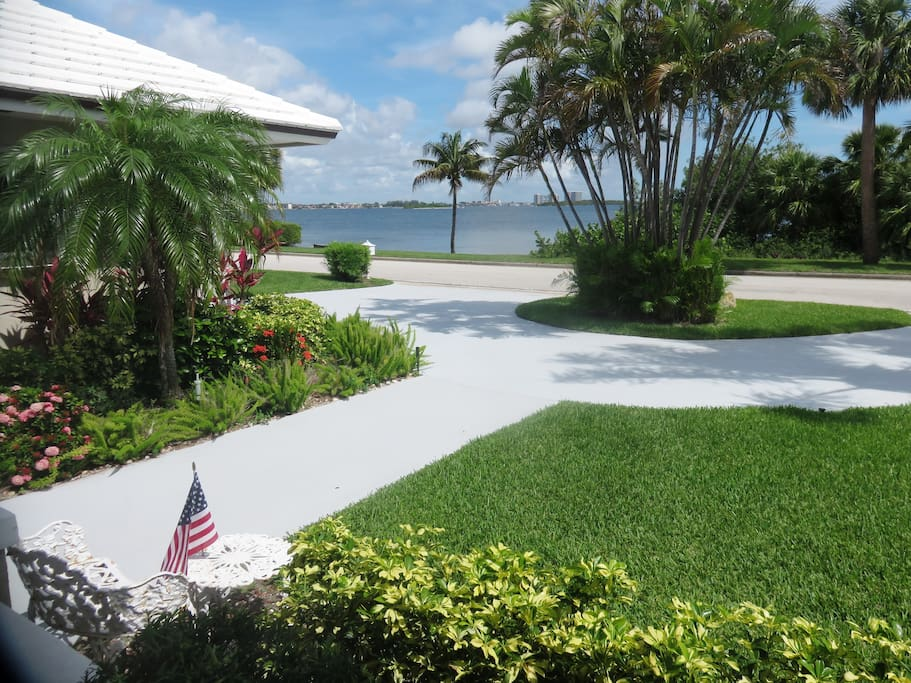 View from the house toward the intracoastal lagoon
