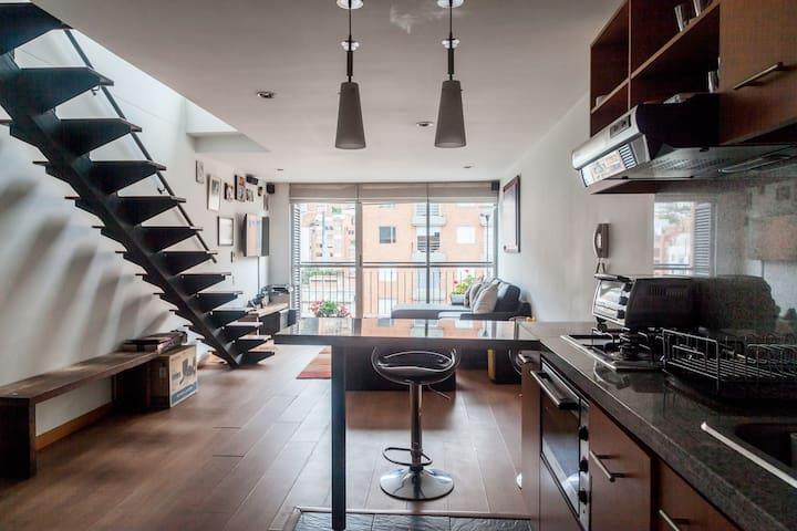 Comfortable 1 BR Duplex great place, view&terrace