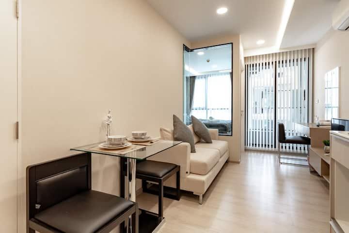 MKV2022-曼谷市中心 BTS thong lo E6  免费WiFi泳池公寓