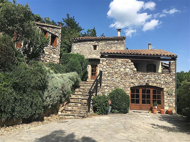Charming Cottage in the Cévennes, 2 to 8 people - Arphy - Huis