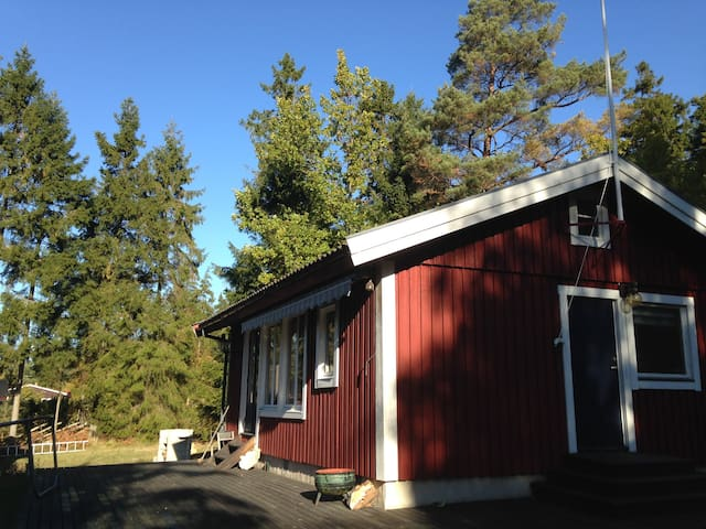 2 cabins, silent area, 200 m from beach - Gotlands Tofta - Cabaña