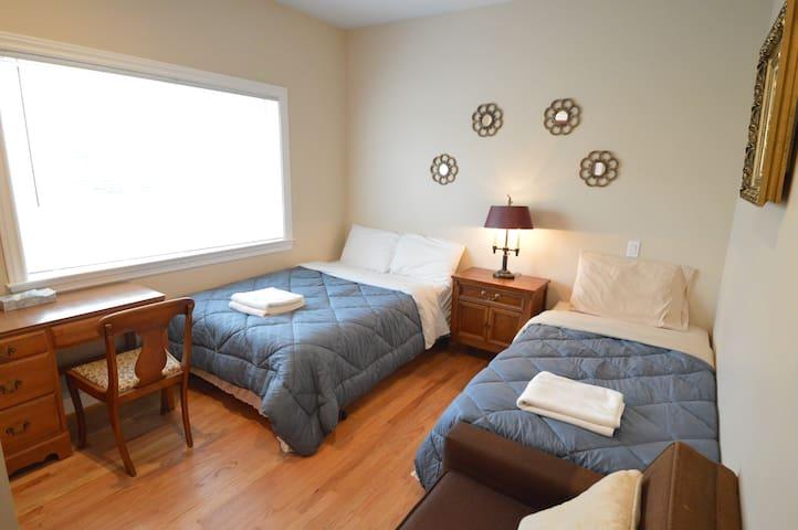 3C 旧金山舒适双床房,近机场,地铁站和高速公路口