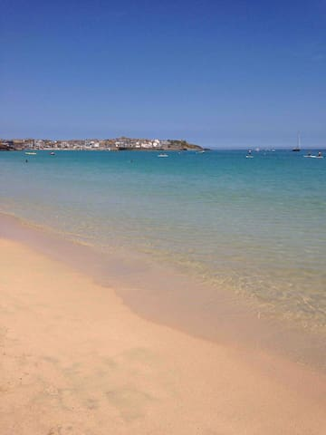 The beautiful views from Porthminster Beach