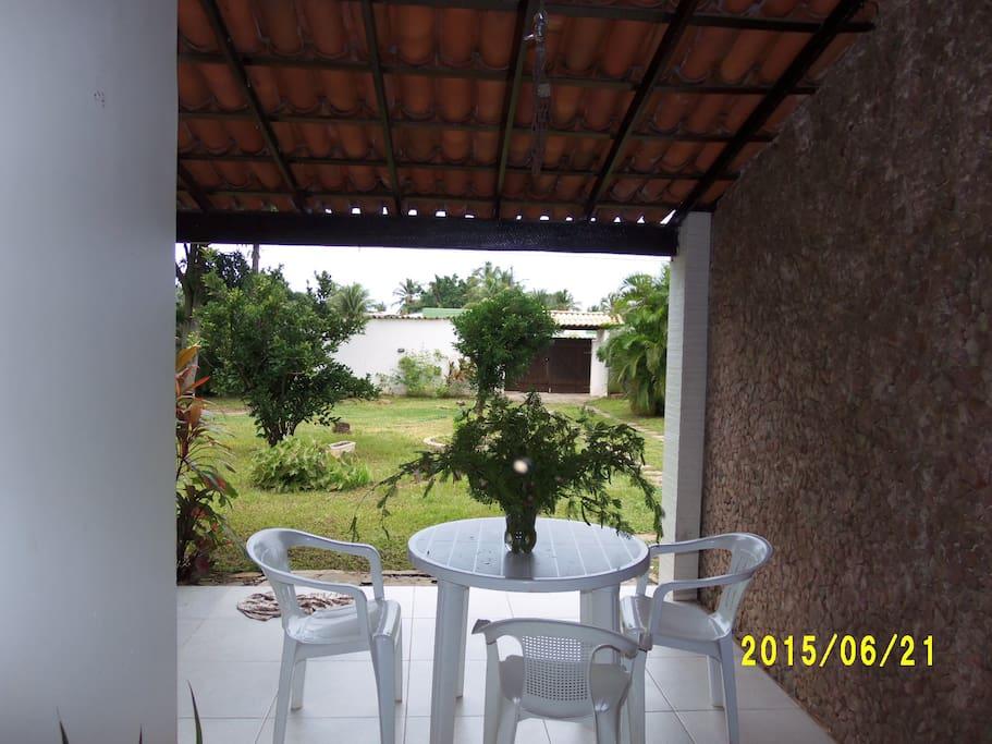 Parte lateral da casa