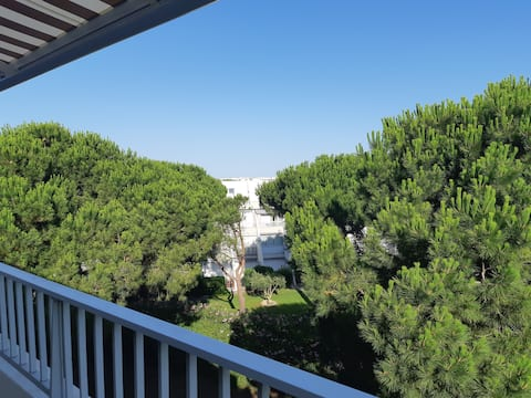 Port Camargue : appartement face plage sud