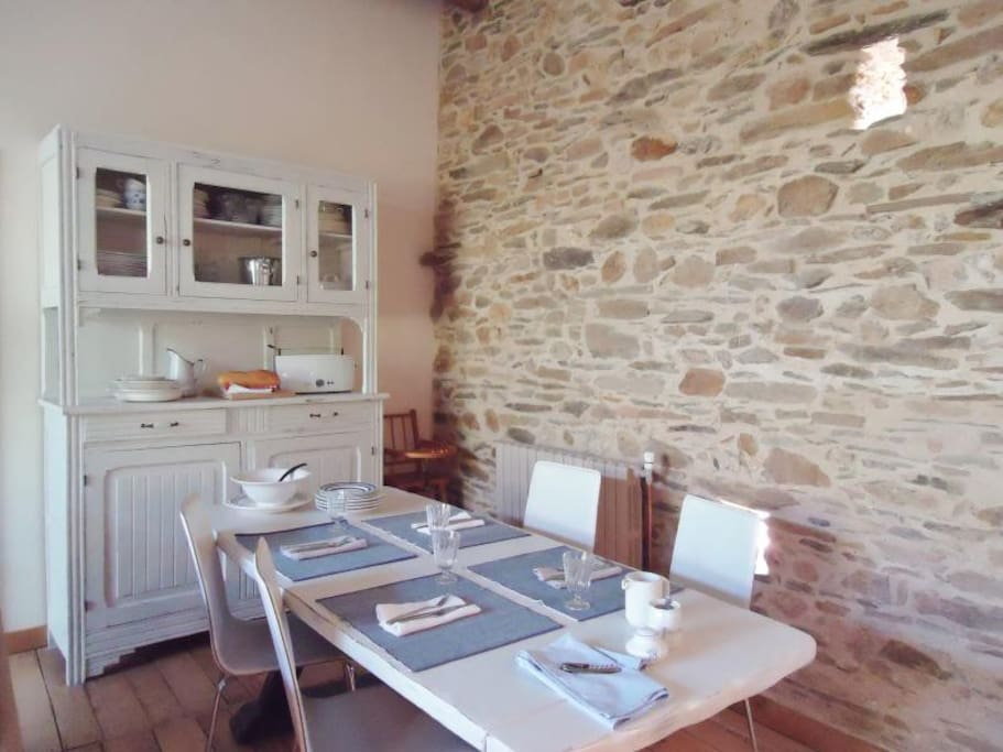 Dining area, but we hope you will be able to eat on the terrace!
