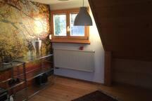 Fenster nach Süden im Wohnzimmer