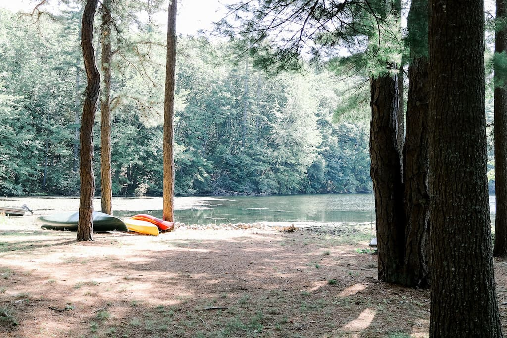 Take the kayaks and canoe out for a morning venture!