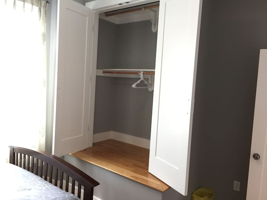 Large Closet in Room 1, full length mirror is on the back of the room door