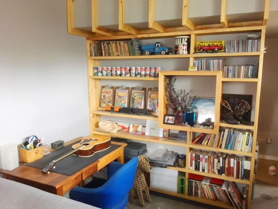 Books to read, art books to look through and goofy things I collected as a kid to amuse you.