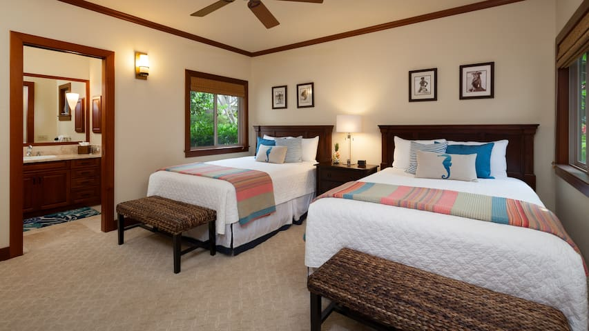 Bedroom #3 - two queen beds with private bath