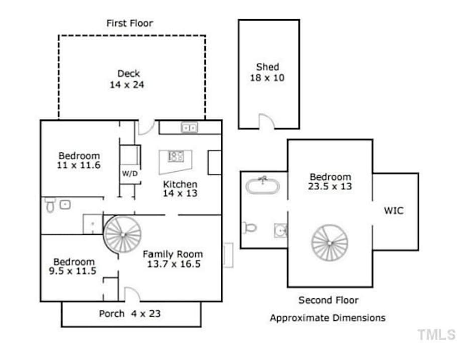 Floorplan of the home
