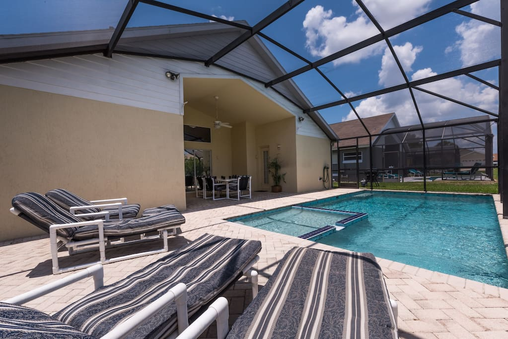 Soak up the sun on the south facing pool deck