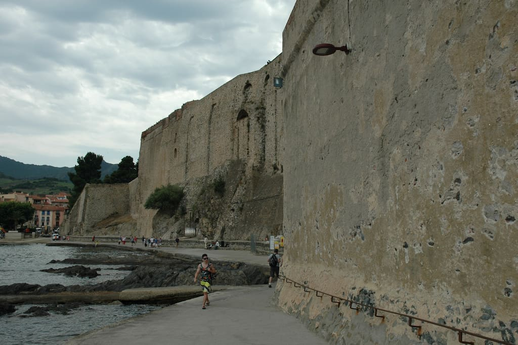 Outside of Collioure's historic fort
