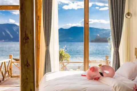 超级湖景离湖7.9米#阳台#阁楼可以喝茶看星星#