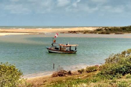 Suíte 2º andar em Urussuquara: lazer em rio e mar