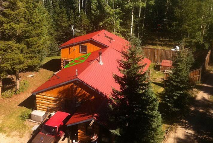 Mini room in Rustic Log Cabin near Mt Evans