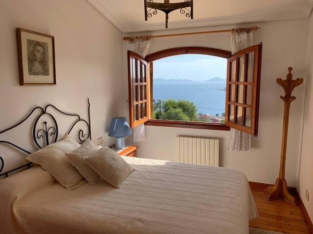 Habitación con vistas a las Islas Cíes