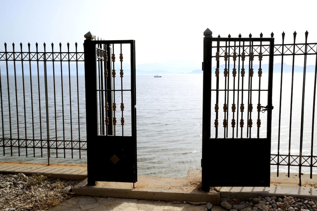 the gate adjacent to the sea
