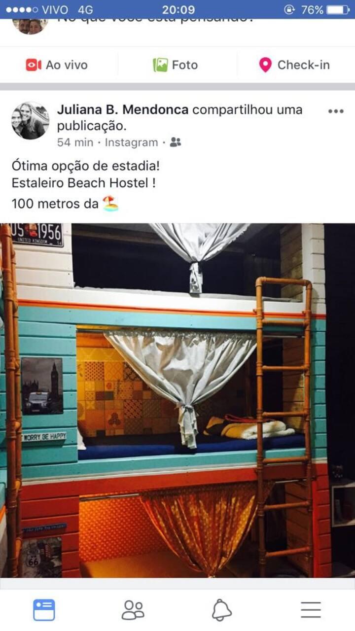 Estaleiro beach hostel cama 4