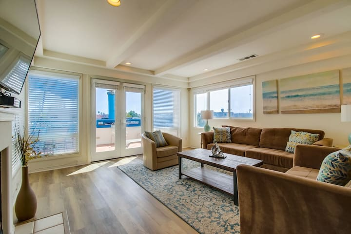Perfect Family Beach Home with 3rd Floor Deck, BBQ & Garage!