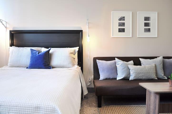 Queen comfortable bed