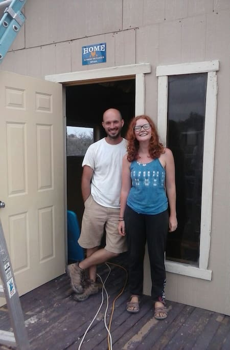 Kelby and Sam helped us finish the tiny house!