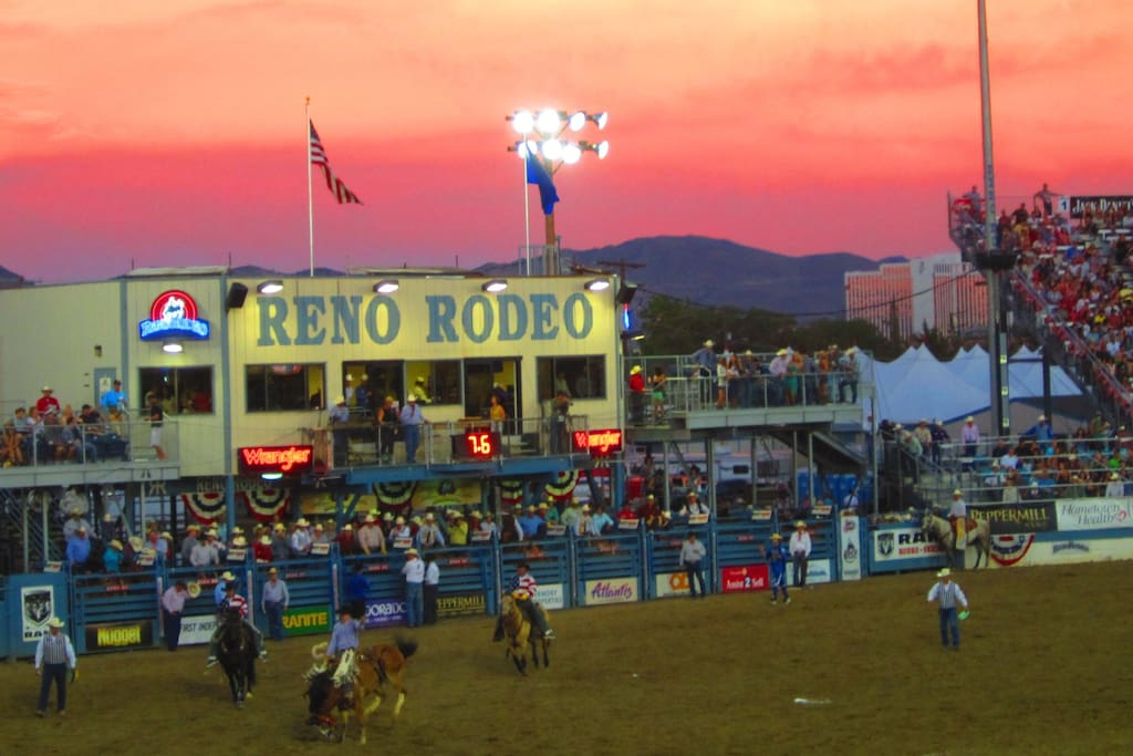 Reno Rodeo - one of the biggest and baddest - and you could walk to the event from Casa Mulino June 14th - 23rd